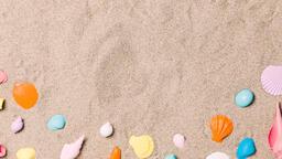 Painted Sea Shells on Sand  image 4