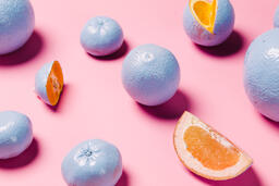 Blue Citrus on Pink Background  image 10