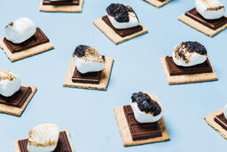 S'mores Scattered on Blue Background  image 29