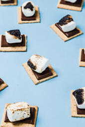 S'mores Scattered on Blue Background  image 27
