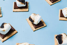 S'mores Scattered on Blue Background  image 30