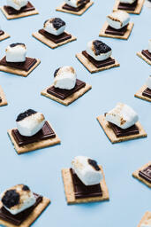 S'mores Scattered on Blue Background  image 14