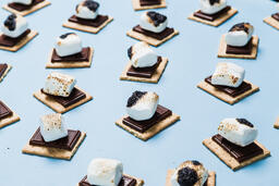 S'mores Scattered on Blue Background  image 6