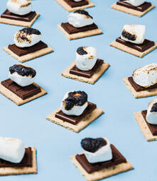 S'mores Scattered on Blue Background  image 7