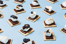 S'mores Scattered on Blue Background  image 13