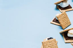 S'mores Scattered on Blue Background  image 23