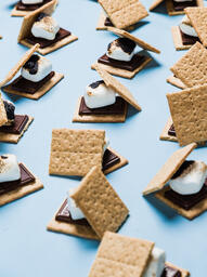 S'mores Scattered on Blue Background  image 4