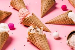 Ice Cream Cones on Pink Background  image 3
