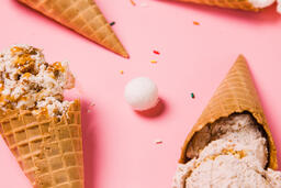 Ice Cream Cones on Pink Background  image 2
