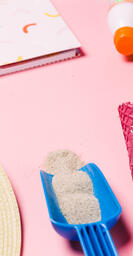 Beach Day Supplies on Pink Background  image 2