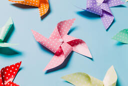Pinwheels on Blue Background  image 3