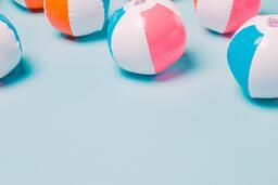 Beach Balls on Blue Background  image 4