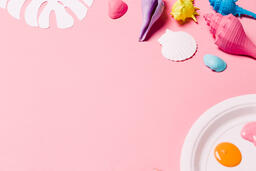 Painting Sea Shells on Pink Background  image 6