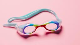 Goggles on Pink Background  image 3