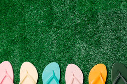 Flip Flops on Grass  image 3