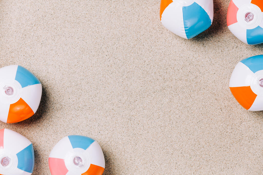 Beach Ball on Sand large preview