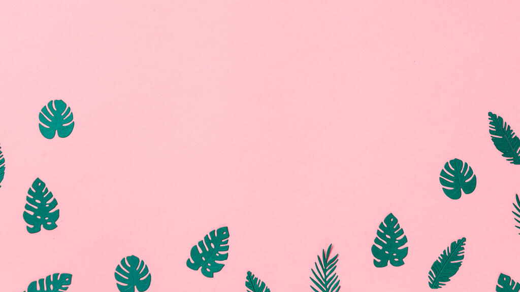 Tropical Leaves on Pink Background large preview
