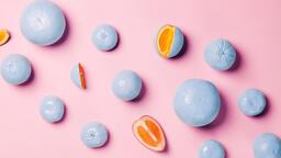 Blue Citrus on Pink Background  image 4