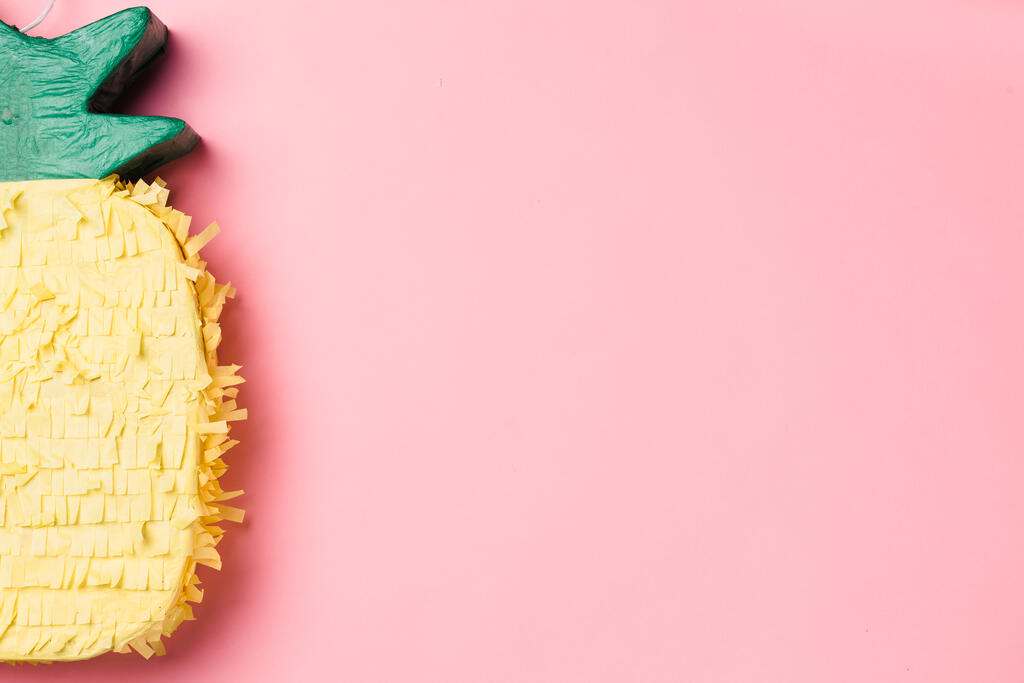Pineapple Piñata on Pink Background large preview