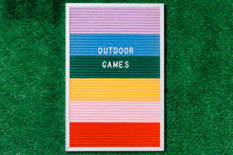 Outdoor Games Letter Board on Grass  image 4