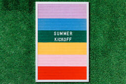 Summer Kickoff Letter Board on Grass  image 1