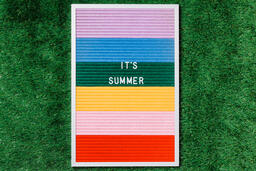 It's Summer Letter Board on Grass  image 5