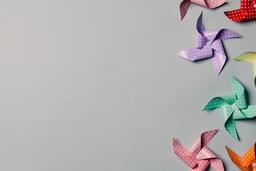 Pinwheels on Gray Background  image 6