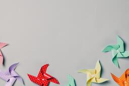 Pinwheels on Gray Background  image 12
