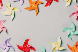 Pinwheels on Gray Background  image 5
