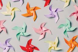 Pinwheels on Gray Background  image 11