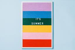 It's Summer Letter Board on Blue Background  image 2