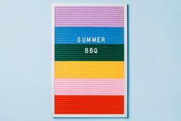 Summer BBQ Letter Board on Blue Background  image 2