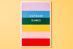 Outdoor Games Letter Board on Yellow Background  image 2