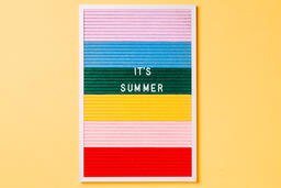 It's Summer Letter Board on Yellow Background  image 5