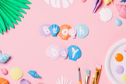 Painting Sea Shells on Pink Background  image 7