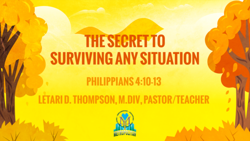The Secret to Surviving Any Situation