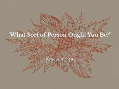 """""""What Sort of Person Ought You Be?"""""""