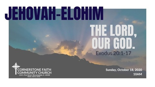 October 18, 2020 - Jehovah-Elohim