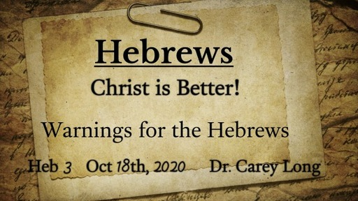 Warnings for the Hebrews