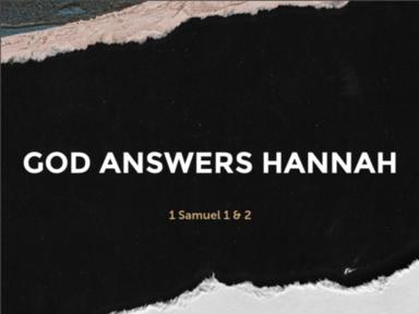 God Answers Hannah
