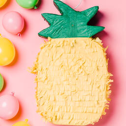 Pineapple Piñata on Pink Background  image 2