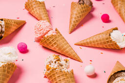 Ice Cream Cones on Pink Background  image 11