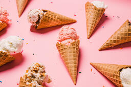 Ice Cream Cones on Pink Background  image 20