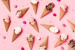 Ice Cream Cones on Pink Background  image 15
