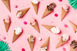 Ice Cream Cones on Pink Background  image 5