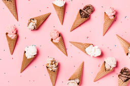 Ice Cream Cones on Pink Background  image 9