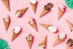 Ice Cream Cones on Pink Background  image 14