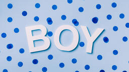 BOY with Blue Confetti  image 2