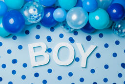 BOY with Blue Confetti  image 3