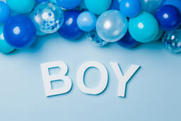 BOY with Blue Confetti  image 1